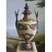 15030E Säulen mit Vasen Marmor Beige 1,77 m