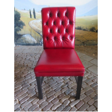 15091 Dining Chair Leather Red