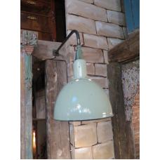 15145E Industrielampe Wandlampe Hellgrün-Weiß Ø 0,45 m