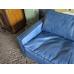 15292A Couchgarnitur Leder Blau 3-1-1