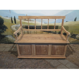 15339E Wooden Bench Teak Wood Untreated 1.20 m