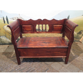 15345E Wooden Chest Bench Mahogany 1.20 m
