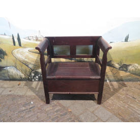 15346A Wooden Chest Bench Brown 0.90 m