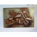 15471 Vintage Bild Metall Motorrad 1,20 m x 0,80 m