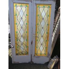 15612A Tür Flügeltüren Innentüren Bleiverglasung 1,28 m