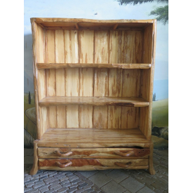 15667 Bookcase Regal Country Teak 1.43 m