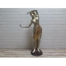 15771E Skulptur Dekoration Frau Bronze 1,60 m