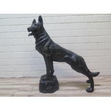 15792 Skulptur Dekoration Schäferhund Bronze 1,02 m