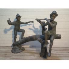 15803E Skulptur Dekoration Kinder Bronze 1,35 m