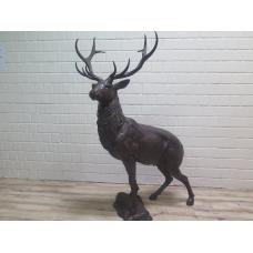15804 Skulptur Dekoration Hirsch Bronze 1,75 m