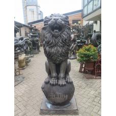 15809E Skulptur Dekoration Löwe Bronze 1,90 m