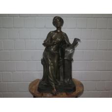 15814 Skulptur Dekoration Frau Bronze 0,72 m