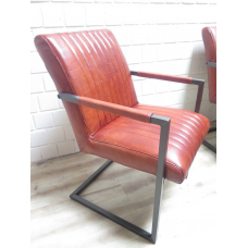 15861 Dining Chair Industrial Design Leather Auburn