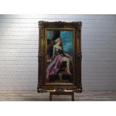 15985 Painting with Frame 0.98 m x 1.60 m