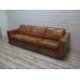 15996 Couch Rindleder Cognac 3-Sitzer