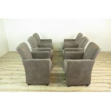 16023 Stuhl / Sessel auf Rollen Grau Setpreis