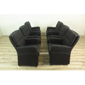 16024 Chair / Armchair with Casters  Anthracite - Set Price