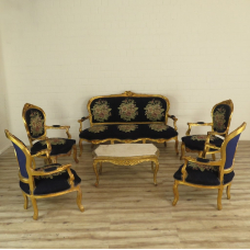 16077 Sitzgarnitur Sessel Sofa Louis XVI 1860