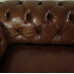 16089E Chesterfield Sofa Couch Leder Brown 2.40 m