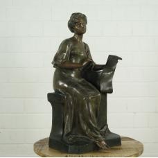 16109 Skulptur Dekoration Dame Bronze 0,68 m