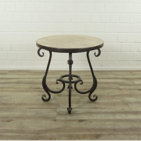 16153E Side Table VAN THIEL & CO. Iron Ø 0.62 m
