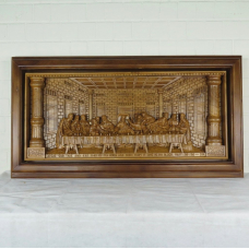 16170E Mural Teak The Last Supper 1.60 m