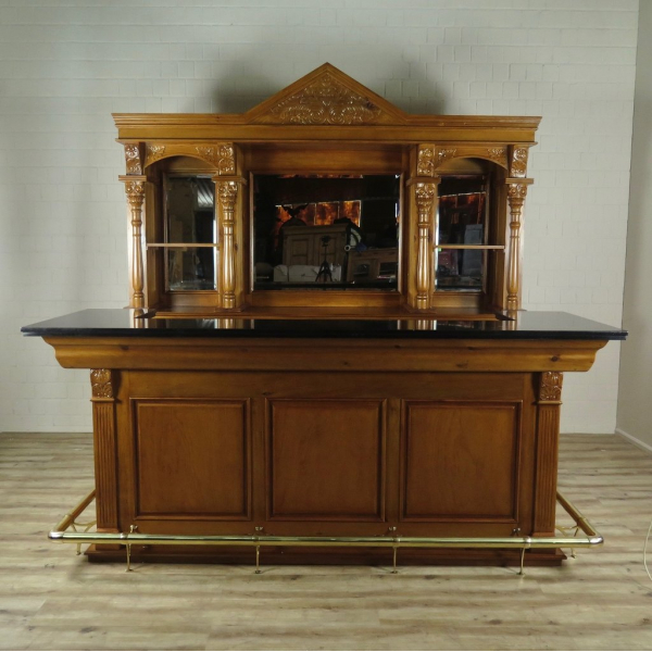16243E Empire Bar Counter Solid Wood 2.60 m