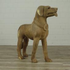 16264 Skulptur Dekoration Hund Teakholz 0,83 m