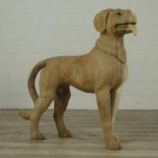 16265E Skulptur Dekoration Hund Teakholz 0,83 m