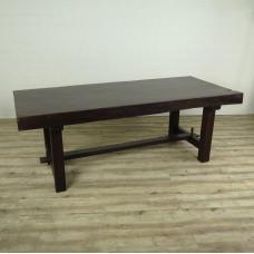 16271E Tisch Esstisch Teakholz Baumstamm 2,21 m x 0,96 m