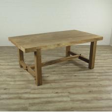 16282E Tisch Esstisch Teakholz Baumstamm 1,97 m x 1,10 m