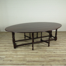 16285E Folding Table Dining Table Oak 2.50 m x 1.68 m