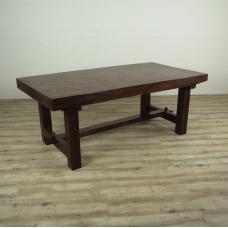 16290E Tisch Esstisch Teakholz Baumstamm 1,92 m x 0,98 m