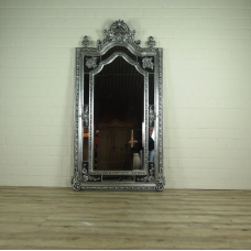 16329 Wall Mirror Baroque Silver 1.12 m x 2.10 m