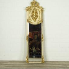 16341E Spiegel Wandspiegel Barock Altweiß 0,51 m x 1,77 m