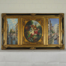 16352E Painting with Magnificent Frame 1.42 m x 0.82 m