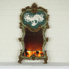 16354E Spiegel Wandspiegel Renaissance Grün 0,65 m x 1,33 m