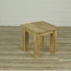 16372E Beistelltisch Tisch Teakholz 0,50 m