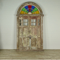 16378 Tür Eingangstür Haustür Teakholz 1850