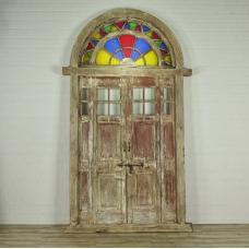 16379E Tür Eingangstür Haustür Teakholz 1850