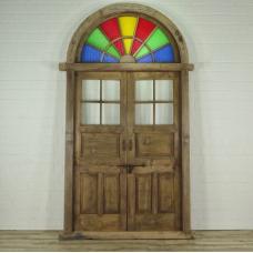 16381E Tür Eingangstür Haustür Teakholz 1850