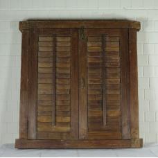 16404E Fenster mit Läden Antik 1850