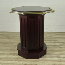 16457E Bar Table Mahogany Ø 0.84 m