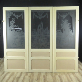 16567 Three Leaf Room Divider Doors Jugendstil 1910