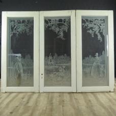 16568 Dreiflügeliges Fenster Jugendstil 1910
