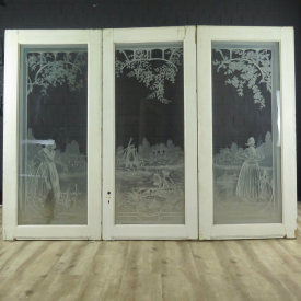 16568 Three Winged Window Jugendstil 1910