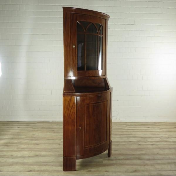 16575E Eckschrank Biedermeier 1850