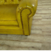 16607E Chesterfield Sofa Couch Leder Gelb 2,80 m