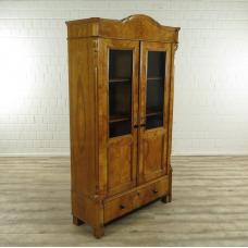 16618E Vitrine Bücherschrank Biedermeier 1860