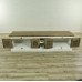 16650E TV Lowboard Louvre Teakholz 2,00 m